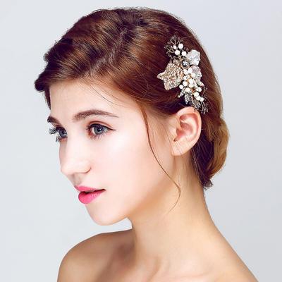 """Kämme und Haarspangen Hochzeit/besondere Anlässe/Party Legierung/Faux-Perlen 3.74""""(Ungefähre.9.5cm) 2.17""""(Ungefähre 5.5cm) Kopfschmuck (042156231)"""