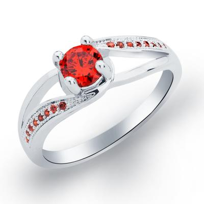 Rings Copper/Zircon/Platinum Plated Ladies' Attractive Wedding & Party Jewelry (011165404)