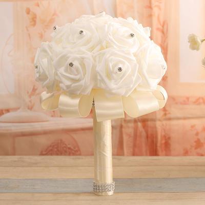 "Bridal Bouquets Round Wedding Satin 13.78""(Approx.35cm) Wedding Flowers (123189768)"
