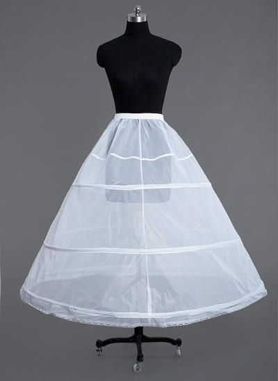 Petticoats Floor-length Tulle Netting Ball Gown Slip/Full Gown Slip 1 Tiers Petticoats (037190783)