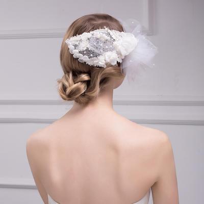 Kopfschmuck Hochzeit/besondere Anlässe Strass/Faux-Perlen/Lace Prächtig Kopfschmuck (042157260)