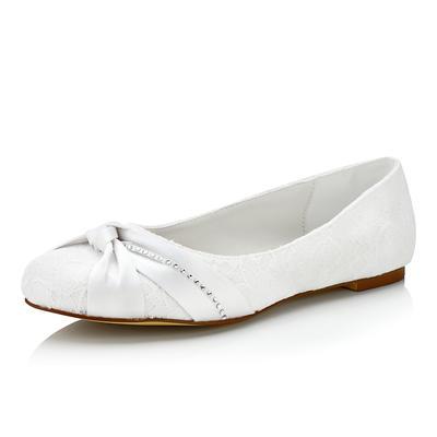 Women's Flats Flat Heel Lace With Ruffles Wedding Shoes (047206789)