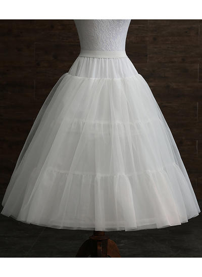 Petticoats Tulle Netting/Taffeta A-Line Slip 3 Tiers Wedding Petticoats (037190869)