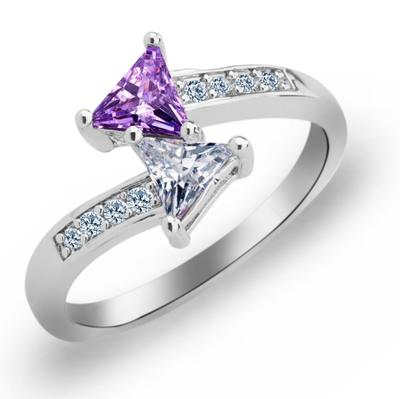 Rings Copper/Zircon/Platinum Plated Ladies' Chic Wedding & Party Jewelry (011165399)