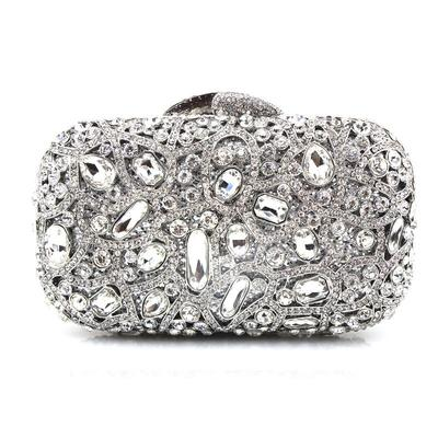 Clutches/Wristlets Wedding/Ceremony & Party Acrylic/PU Clip Closure Gorgeous Clutches & Evening Bags (012186514)