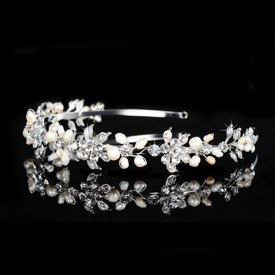 Tiaras Hochzeit/besondere Anlässe/Party Strass/Legierung/Faux-Perlen Schöne Damen Kopfschmuck (042157358)
