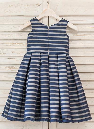 Princess Tea-length A-Line/Princess Flower Girl Dresses Scoop Neck Organza Sleeveless (010210128)