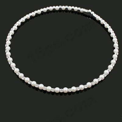 "Necklaces Pearl Rhinestone Nice 9.86""-13.8""(Approx.25cm-35cm) Wedding & Party Jewelry (011162140)"
