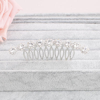 """Combs & Barrettes Wedding/Special Occasion/Party Crystal 2.99""""(Approx.7.6cm) 1.69""""(Approx.4.3cm) Headpieces (042156546)"""