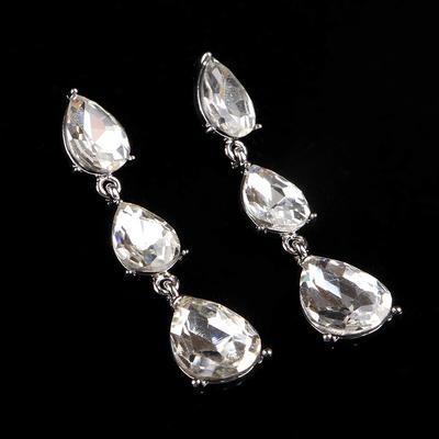 Earrings Alloy/Rhinestones Pierced Ladies' Beautiful Wedding & Party Jewelry (011167296)