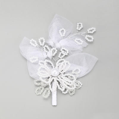 """Hairpins Wedding/Special Occasion Imitation Pearls/Lace 5.71""""(Approx.14.5cm) 4.33""""(Approx.11cm) Headpieces (042156745)"""