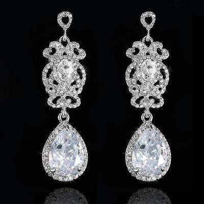 Earrings Zircon Pierced Ladies' Beautiful Wedding & Party Jewelry (011166660)