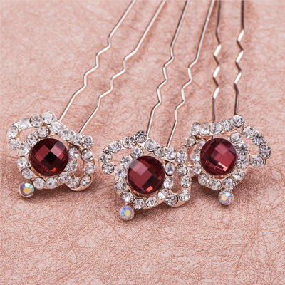 """Hairpins Wedding/Special Occasion/Casual/Outdoor/Party Crystal/Rhinestone/Alloy 3.35""""(Approx.8.5cm) 0.87""""(Approx.2.2cm) Headpieces (042154774)"""