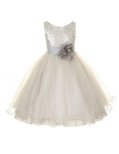 Delicate Tea-length A-Line/Princess Flower Girl Dresses Scoop Neck Sleeveless (010146777)