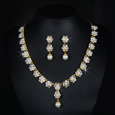 Jewelry Sets Alloy/Rhinestones Lobster Clasp Pierced Ladies' Wedding & Party Jewelry (011167262)