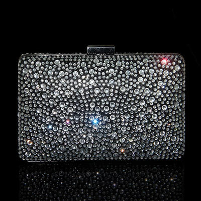 Clutches/Wristlets Wedding Crystal/ Rhinestone Clip Closure Charming Clutches & Evening Bags (012186800)