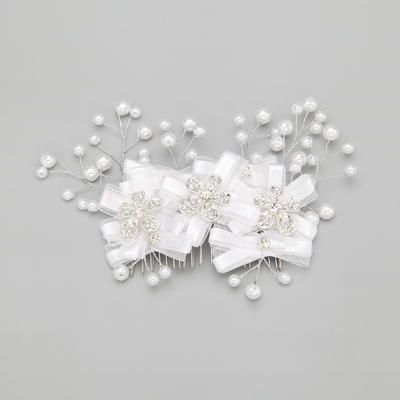 "Combs & Barrettes Wedding/Special Occasion/Party Alloy/Imitation Pearls 7.09""(Approx.18cm) 3.94""(Approx.10cm) Headpieces (042154863)"