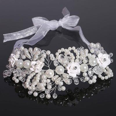 "Headbands Wedding Crystal/Imitation Pearls/Polymer Clay 7.09""(Approx.18cm) 3.55""(Approx.9cm) Headpieces (042159010)"