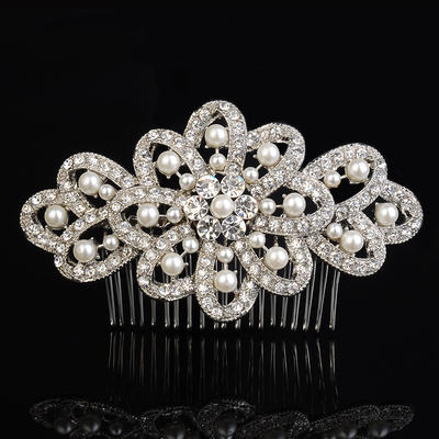 "Combs & Barrettes Wedding/Special Occasion/Casual/Outdoor/Party Rhinestone/Alloy/Imitation Pearls 4.53""(Approx.11.5cm) 2.76""(Approx.7cm) Headpieces (042157225)"