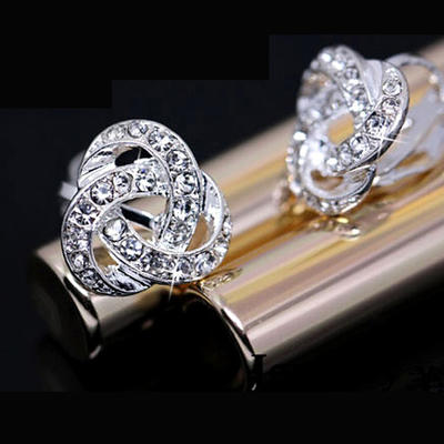 Earrings Alloy/Rhinestones Pierced Ladies' Shining Wedding & Party Jewelry (011166640)