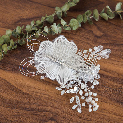 "Combs & Barrettes Wedding Crystal/Imitation Pearls 5.91""(Approx.15cm) 3.94""(Approx.10cm) Headpieces (042158459)"