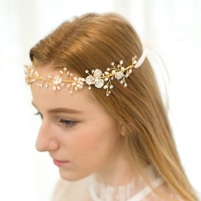 """Forehead Jewelry/Headbands Wedding/Party/Carnival Rhinestone/Alloy/Freshwater Pearl 12.40""""(Approx.31.5cm) 1.77""""(Approx.4.5cm) Headpieces (042156293)"""
