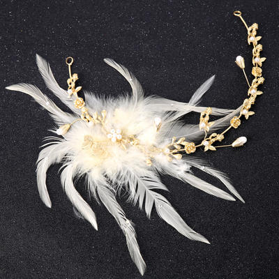 "Headbands Wedding/Special Occasion/Party/Art photography Alloy/Feather 12.60""(Approx.32cm) 5.53""(Approx.14cm) Headpieces (042159911)"