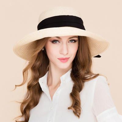 Rattan Straw Straw Hat/Beach/Sun Hats Fashion Ladies' 53-58 Hats (196195112)