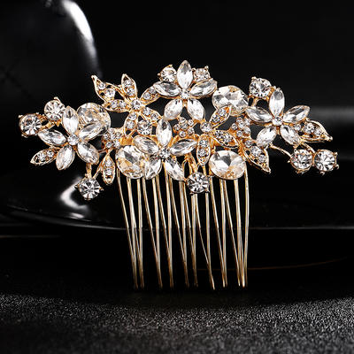 Combs & Barrettes Wedding Crystal/Alloy Gorgeous (Sold in single piece) Headpieces (042159060)