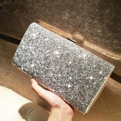 Clutches/Fashion Handbags Ceremony & Party Crystal/ Rhinestone/Sparkling Glitter Clip Closure Shining Clutches & Evening Bags (012186459)