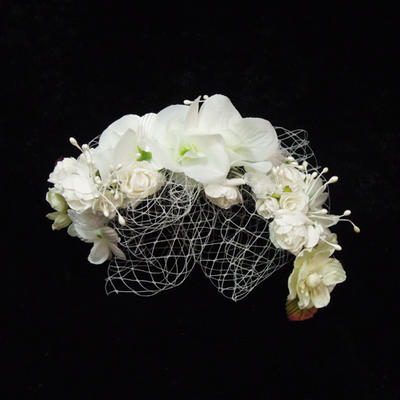 """Fascinators/Flowers & Feathers Special Occasion Artificial Silk/Tulle 8.66""""(Approx.22cm) 4.33""""(Approx.11cm) Headpieces (042153121)"""
