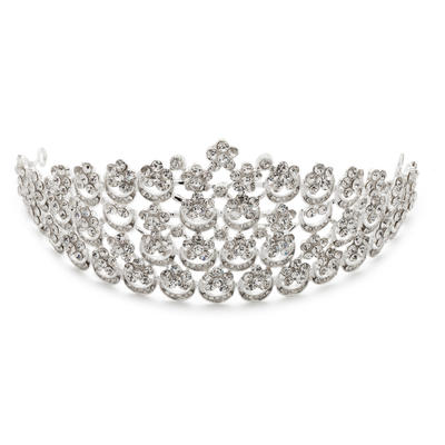 """Tiaras Wedding/Special Occasion/Party Rhinestone/Alloy 11.02""""(Approx.28cm) 2.76""""(Approx.7cm) Headpieces (042154337)"""