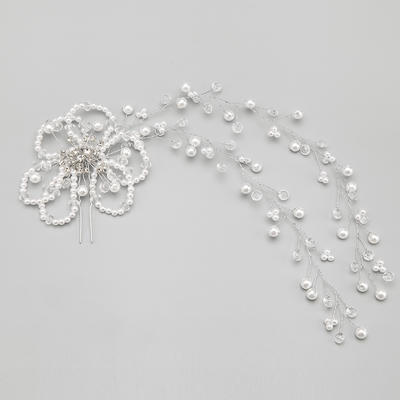 "Hairpins Wedding/Special Occasion/Party Alloy/Imitation Pearls 10.24""(Approx.26cm) 4.72""(Approx.12cm) Headpieces (042154836)"