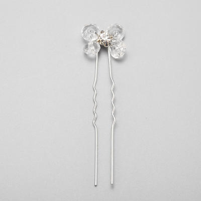 """Hairpins Wedding/Special Occasion/Party Crystal/Rhinestone/Alloy 2.36""""(Approx.6cm) 0.67""""(Approx.1.7cm) Headpieces (042155286)"""