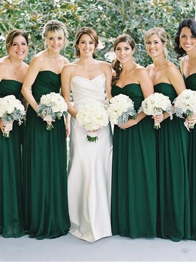Chiffon Sleeveless A-Line/Princess Bridesmaid Dresses Sweetheart Ruffle Floor-Length (007144989)