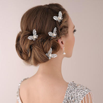 Hairpins Wedding/Special Occasion/Party Rhinestone/Alloy/Imitation Pearls Beautiful (Set of 2) Headpieces (042157597)
