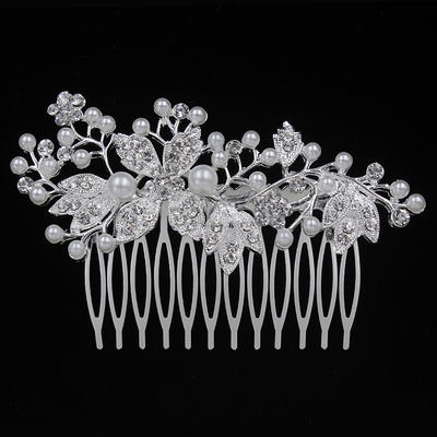 "Combs & Barrettes Wedding/Special Occasion/Party Alloy 3.54""(Approx.9cm) 2.17""(Approx.5.5cm) Headpieces (042156885)"