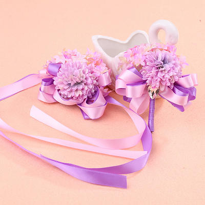 Wrist Corsage/Boutonniere/Men's Accessories Wedding Girly Wrist Corsage/Boutonniere Wedding Flowers (123189519)