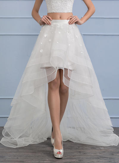 Separates Asymmetrical Organza Wedding Skirt With Flower(s) (002112575)