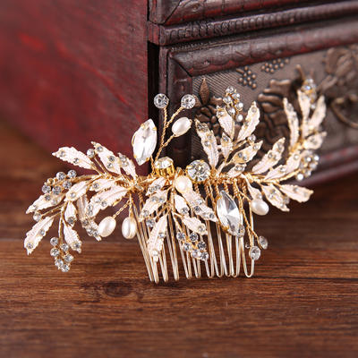 "Combs & Barrettes Wedding/Special Occasion/Party/Art photography Rhinestone/Alloy 4.33""(Approx.11cm) 2.76""(Approx.7cm) Headpieces (042159915)"