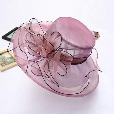Organza With Silk Flower Floppy Hat Charming Ladies' Hats (196194627)