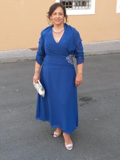 A-Linie/Princess-Linie V-Ausschnitt Chiffon 1/2 Ärmel Knöchellang Rüschen Perlstickerei Kleider für die Brautmutter (008212710)