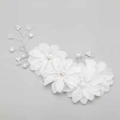 """Combs & Barrettes Wedding/Special Occasion/Party Alloy/Imitation Pearls 8.66""""(Approx.22cm) 4.13""""(Approx.10.5cm) Headpieces (042154844)"""