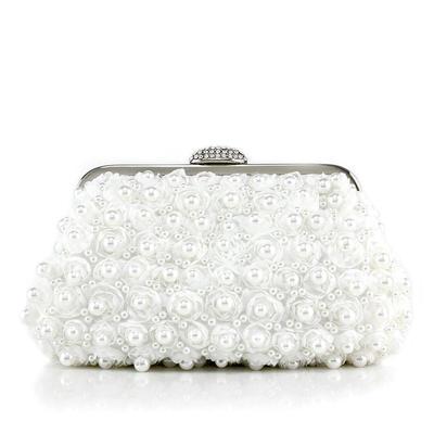 Handtaschen Hochzeit/Zeremonie & Party Lace/Perlstickerei Stutzen Verschluss Glänzende Clutches & Abendtaschen (012188165)