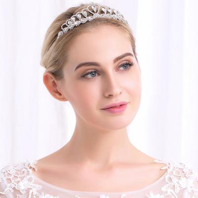 Tiaras Wedding Rhinestone/Alloy Glamourous Ladies Headpieces (042158088)