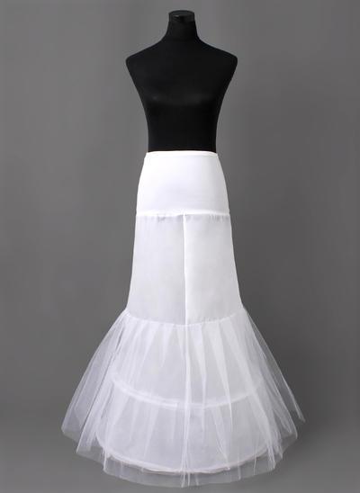 Unterröcke Bodenlang Nylon/Tüll Netting Meerjungfrau und Trompete Kleid Gleiten 2 Ebenen Reifröcke (037190680)