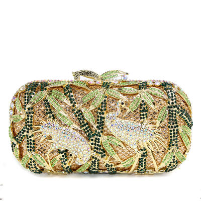 Clutches/Luxury Clutches Wedding/Ceremony & Party Sparkling Glitter Clip Closure Lovely Clutches & Evening Bags (012185144)