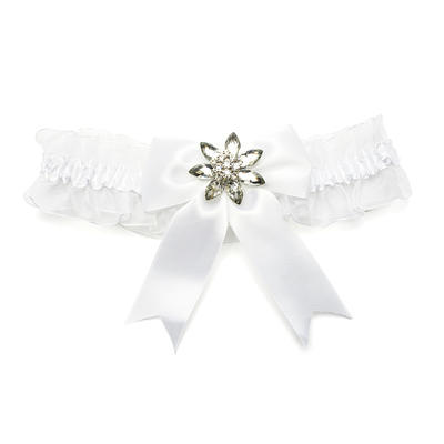 Garters Lady Casual/Special Occasion Organza With Bowknot/Rhinestone Garter (104196142)