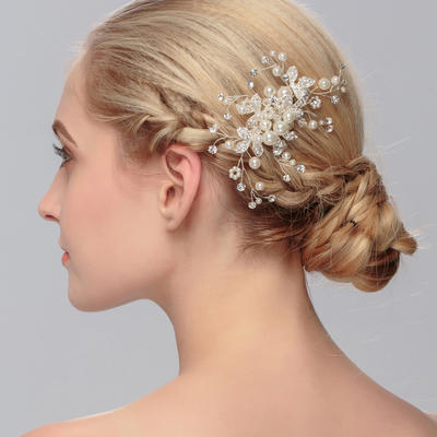 """Combs & Barrettes Wedding/Special Occasion/Party Imitation Pearls 4.53""""(Approx.11.5cm) 2.76""""(Approx.7cm) Headpieces (042156514)"""