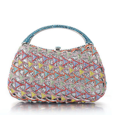 Braut Geld-Beutel/Luxus Handtaschen Hochzeit/Zeremonie & Party Kristall / Strass/Legierung/Versilbert Magnetverschluss Elegant Clutches & Abendtaschen (012185808)